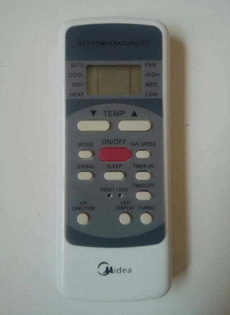 Gambar Remote AC Midea