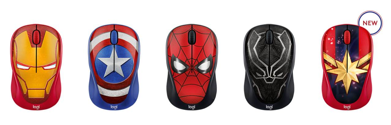 Gambar Mouse Wireless Logitech M234 Marvel Collection