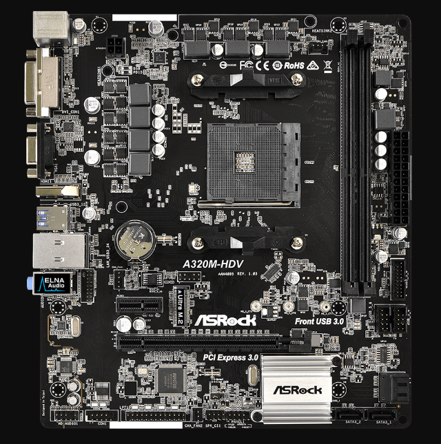 Motherboard-Asrock-A320M-HDV