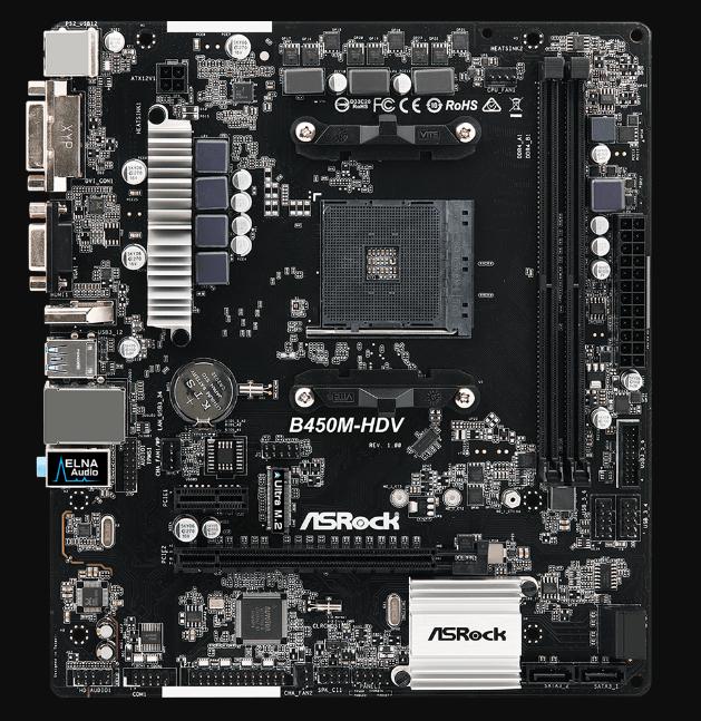 Motherboard-Asrock-B450M-HDV
