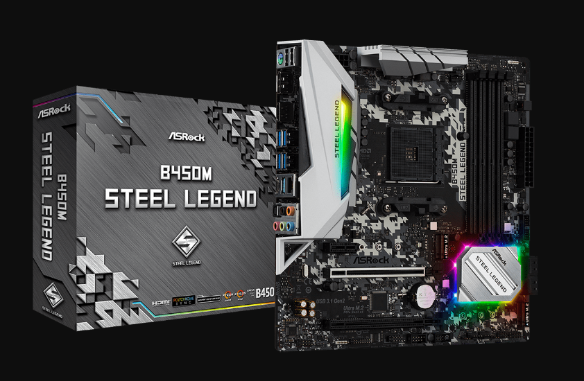 Motherboard-Asrock-B450M-Steel-Legend