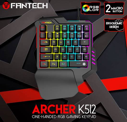 Fantech-K512-Archer-Single-Hand-Keyboard-Gaming