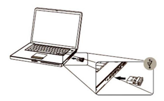 pasang receiver mouse pada PC