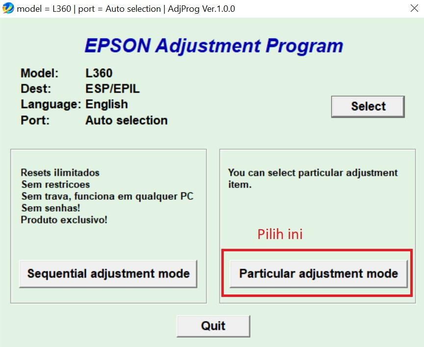 Pilih-particular-adjustment-mode